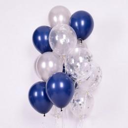 15 sztuk 12 cal jasny niebieski balony lateksowe ze złotym metaliczny chrom pod koniec balony na dekoracje ślubne Birthday Party