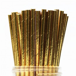 25 sztuk metalowe złote serce gwiazda folia paski słomki papierowe złote paski słomki papierowe srebrny foliowane pasek chevron