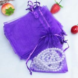 10 sztuk/partia (9 rozmiary) Organza opakowanie na biżuterię upominek torba ślub dekoracje, prezenty dla gości ściągane sznurecz