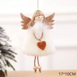 2020 nowy rok ostatnie boże narodzenie anioł lalki słodkie ozdoba na choinkę Noel Deco świąteczne dekoracje do domu Navidad 2019