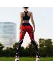 Sexy legginsy Push Up kobiety diabeł nadruk serce spodnie wysokiej talii gotyckie legginsy trening Fitness Running Mujer oddycha