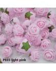 50 sztuk/partia kolorowe sztuczne Rose kwiaty głowy Handmade DIY ślub dekoracji domu wielofunkcyjny koronki PE pianki Rose zaopa