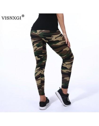 VISNXGI wysokiej jakości kobiety legginsy wysokie elastyczne Skinny kamuflaż Legging wiosna lato damskie wygodne spodnie jeggins