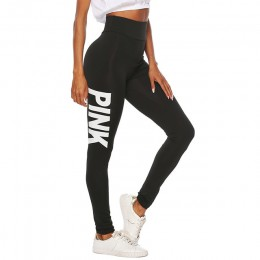 2019 nowych kobiet różowy list drukowane legginsy spodnie push up Sexy Casual ciepłe wysokiej talii Legging elastyczne spodnie o