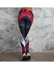 SVOKOR list legginsy z nadrukami kobiet Fitness wysokiej talii spodnie Push Up oddychające i wygodne treningu dziewczyna leggins