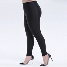 Lady street casual solidne pełne spodnie błyszcząca czysta czerń stretch ołówkowe legginsy mujer slim fitness leginsy leginsy da