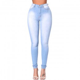 2020 dopasowane dżinsy dla kobiet Skinny wysokiej talii dżinsy kobieta niebieskie spodnie jeansowe ołówkowe rozciągliwa talia ko