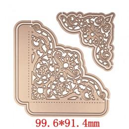 6 sztuk/zestaw koronki krawędzią ramki do cięcia metalu matryce szablony dla Album na zdjęcia DIY do scrapbookingu dekoracyjne w