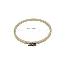 10 sztuk/zestaw 8-30cm drewniane, do haftowania obręcze zestaw ramek haft bambusowy Hoop pierścienie dla majsterkowiczów igła ha