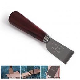 DIY narzędzie kaletnicze drewniany uchwyt ze stali nierdzewnej skórzany nóż do cięcia skóra łopata nóż do pracy ze skóry PGG07