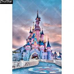 """Pełna plac 5D DIY diament malarstwo """"zamek"""" haft Cross Stitch mozaika do dekoracji domu prezent CJ47"""