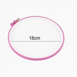 1pc krzyż regulowany narzędzie do szycia plastikowe tamborek tamborek DIY Needlecraft maszyna do haftu krzyżykowego okrągłe pętl