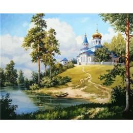 HUACAN obrazy olejne według liczb dekoracje DIY zdjęcia według numerów drzewo krajobraz zestawy letnie rysunek na płótnie ręczni