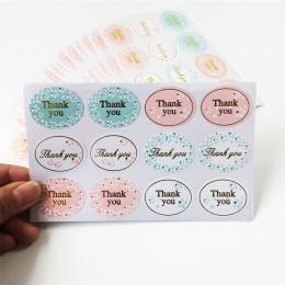 """120 sztuk/partia pozłacane """"dziękuję"""" pieczęć etykiety Vintage floret Scrapbooking DIY prezenty wysłane pieczenia dekoracje ślub"""