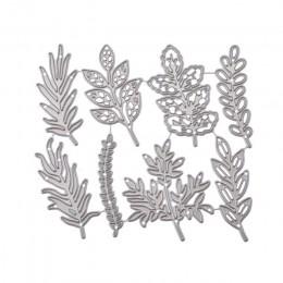 8 sztuk kwiat liście metalu wykrojniki rękodzieło scrapbook umiera powitanie robienie kartek 3D znaczek DIY dekoracja zdjęcia wy