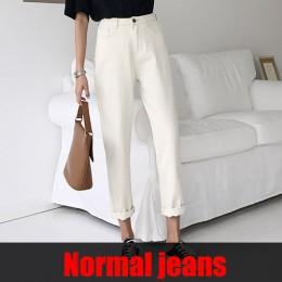 Tataria Jeans Harem dla kobiet luźne Vintage Harem beżowe spodnie jeansowe damskie wysokiej talii bawełna Jean kobiece chłopaka